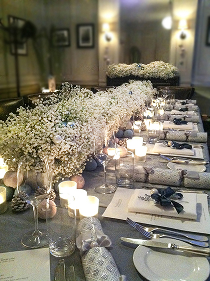 Gypsophila Winter Centrepiece