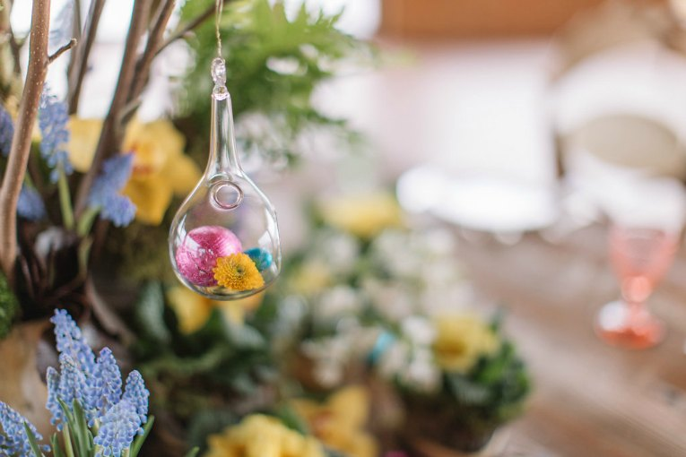 Easter floral styling with four understated spring stars